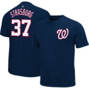 Majestic Triple Peak Men's Washington Nationals Stephen Strasburg Navy T-Shirt