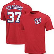 Majestic Triple Peak Men's Washington Nationals Stephen Strasburg Red T-Shirt