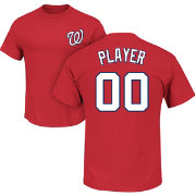 Majestic Men's Full Roster Washington Nationals Red T-Shirt
