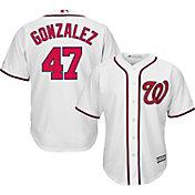 Majestic Men's Replica Washington Nationals Gio Gonzalez #47 Cool Base Home White Jersey