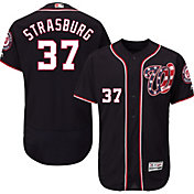 Majestic Men's Authentic Washington Nationals Stephen Strasburg #37 Alternate Navy Flex Base On-Field Jersey