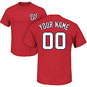 Majestic Men's Custom Washington Nationals Red T-Shirt