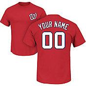 Majestic Men's Custom Washington Nationals Red T-Shirt
