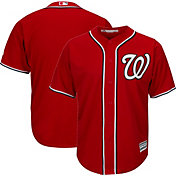 Majestic Men's Replica Washington Nationals Cool Base Alternate Red Jersey