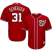 Majestic Men's Replica Washington Nationals Max Scherzer #31 Cool Base Alternate Red Jersey