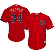 Majestic Men's Replica Washington Nationals Bryce Harper #34 2016 4th of July Cool Base Alternate Red Jersey