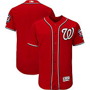 Majestic Men's Authentic Washington Nationals Alternate Red Flex Base On-Field Jersey