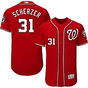 Majestic Men's Authentic Washington Nationals Max Scherzer #31 Alternate Red Flex Base On-Field Jersey
