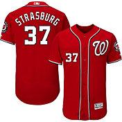 Majestic Men's Authentic Washington Nationals Stephen Strasburg #37 Alternate Red Flex Base On-Field Jersey