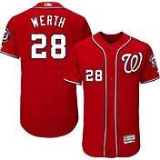 Majestic Men's Authentic Washington Nationals Jayson Werth #28 Alternate Red Flex Base On-Field Jersey