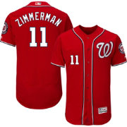 Majestic Men's Authentic Washington Nationals Ryan Zimmerman #11 Alternate Red Flex Base On-Field Jersey