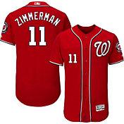 Majestic Men's Authentic Washington Nationals Ryan Zimmerman #11 Alternate Red Flex Base On-Field Jersey