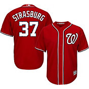 Majestic Men's Replica Washington Nationals Stephen Strasburg #37 Cool Base Alternate Red Jersey