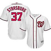 Majestic Men's Replica Washington Nationals Stephen Strasburg #37 Cool Base Home White Jersey