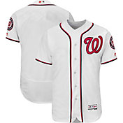 Majestic Men's Authentic Washington Nationals Home White Flex Base On-Field Jersey