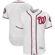 Majestic Men's Authentic Washington Nationals Home White Flex Base On-Field Jersey
