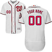 Majestic Men's Custom Authentic Washington Nationals Flex Base Home White On-Field Jersey