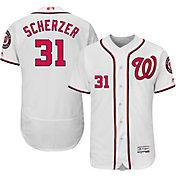 Majestic Men's Authentic Washington Nationals Max Scherzer #31 Home White Flex Base On-Field Jersey
