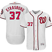 Majestic Men's Authentic Washington Nationals Stephen Strasburg #37 Home White Flex Base On-Field Jersey