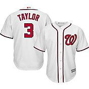 Majestic Men's Replica Washington Nationals Michael Taylor #3 Cool Base Home White Jersey