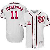 Majestic Men's Authentic Washington Nationals Ryan Zimmerman #11 Home White Flex Base On-Field Jersey