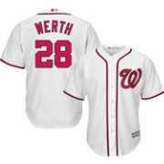 Majestic Men's Replica Washington Nationals Jayson Werth #28 Cool Base Home White Jersey
