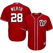 Majestic Men's Replica Washington Nationals Jayson Werth #28 Cool Base Alternate Red Jersey