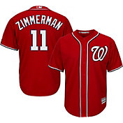Majestic Men's Replica Washington Nationals Ryan Zimmerman #11 Cool Base Alternate Red Jersey