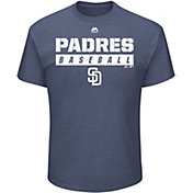 Majestic Men's SAN DIEGO PADRES Proven Pastime Navy T-Shirt