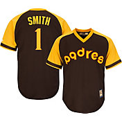Majestic Men's Replica San Diego Padres Ozzie Smith Cool Base Brown Cooperstown Jersey