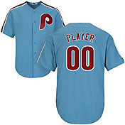 Majestic Men's Full Roster Cool Base Cooperstown Replica Philadelphia Phillies 80s Light Blue Jersey