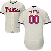 Majestic Men's Full Roster Authentic Philadelphia Phillies Flex Base Alternate Ivory On-Field Jersey