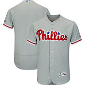 Majestic Men's Authentic Philadelphia Phillies Road Grey Flex Base On-Field Jersey
