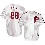 Majestic Men's Replica Philadelphia Phillies John Kruk Cool Base White Cooperstown Jersey