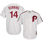 Majestic Men's Replica Philadelphia Phillies Jim Bunning Cool Base White Cooperstown Jersey