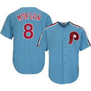 Majestic Men's Replica Philadelphia Phillies Joe Morgan Cool Base Light Blue Cooperstown Jersey