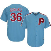 Majestic Men's Replica Philadelphia Phillies Robin Roberts Cool Base Light Blue Cooperstown Jersey