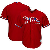 Majestic Men's Replica Philadelphia Phillies Cool Base Alternate Red Jersey