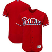 Majestic Men's Authentic Philadelphia Phillies Alternate Red Flex Base On-Field Jersey