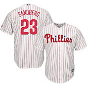 Majestic Men's Replica Philadelphia Phillies Ryne Sandberg #23 Cool Base Home White Jersey
