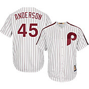 Majestic Men's Replica Philadelphia Phillies Sparky Anderson Cool Base White Cooperstown Jersey