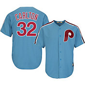 Majestic Men's Replica Philadelphia Phillies Steve Carlton Cool Base Light Blue Cooperstown Jersey