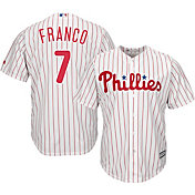 Majestic Men's Replica Philadelphia Phillies Maikel Franco #7 Cool Base Home White Jersey
