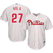 Majestic Men's Replica Philadelphia Phillies Aaron Nola #27 Cool Base Home White Jersey