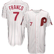 Majestic Men's Philadelphia Phillies Maikel Franco #7 White Turn Back The Clock Authentic Flex Base Jersey