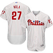 Majestic Men's Authentic Philadelphia Phillies Aaron Nola #27 Home White Flex Base On-Field Jersey