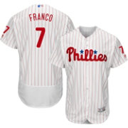Majestic Men's Authentic Philadelphia Phillies Maikel Franco #7 Home White Flex Base On-Field Jersey
