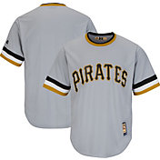 Majestic Men's Replica Pittsburgh Pirates Cool Base Grey Cooperstown Jersey