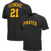 Majestic Triple Peak Men's Pittsburgh Pirates Roberto Clemente Black T-Shirt