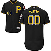 Majestic Men's Full Roster Authentic Pittsburgh Pirates Flex Base Alternate Black On-Field Jersey